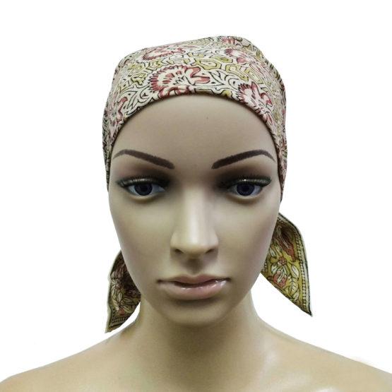 Cream Floral Motif Headband