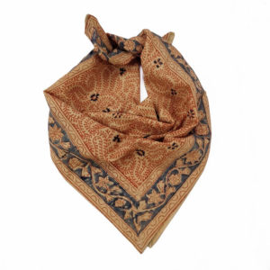 Hand-block printed orange bandana online
