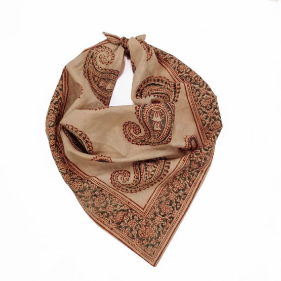 Paisley Motif Red-Skin color Bandana headband