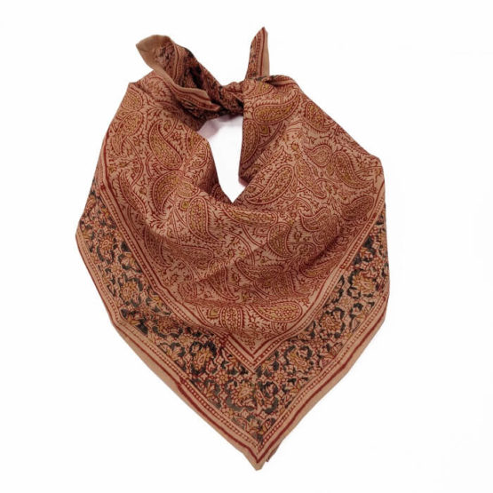 Class Bandana Band with Red Floral Motif