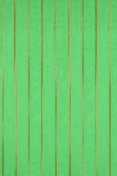 Orange-Green Double Ikat Jumbo Dotted Pattern Pure Cotton Saree Online (2)