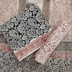 Sanganeri print dress material - GI tag