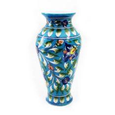 Blue Pottery Flower Vase - GI Tagged