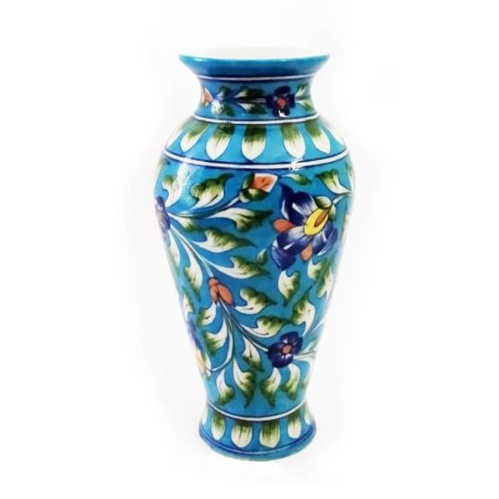Blue Pottery Flower Vase - GI Tagged