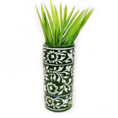 Green Cylindrical Vase - GI Tag