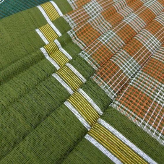 Checks Pattern Cotton Udupi Saree Online