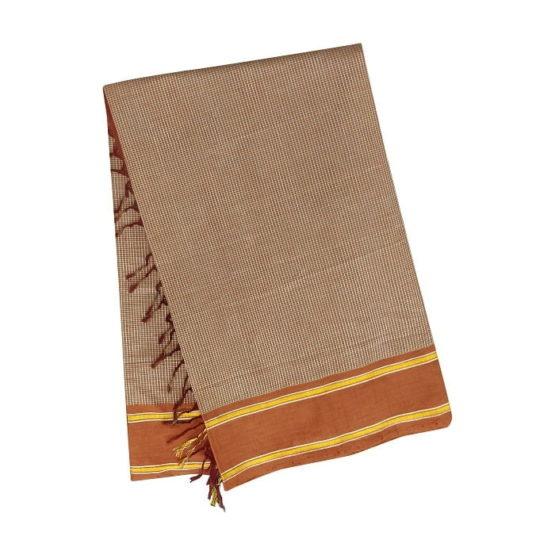 GiTAGGED Udupi Mahogany Brown Pure Cotton Saree 4