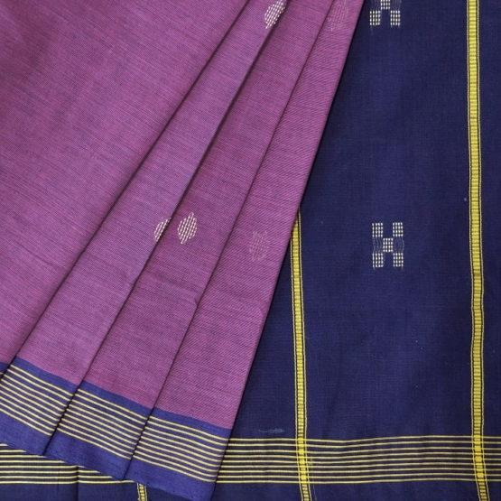 GiTAGGED Udupi Purple with Butta Pure Cotton Saree 2