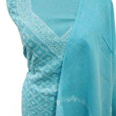 Blue Colour Chikankari Suit Online