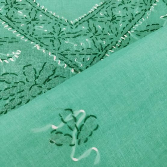 Green Salwar Suit Dupatta Material Online India - GI tag