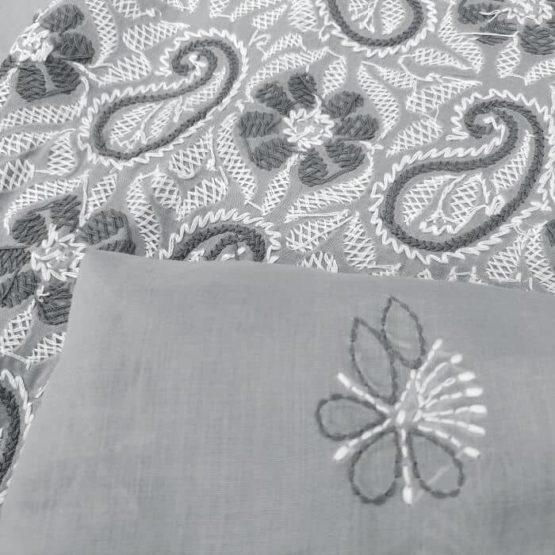 Lava Gray Colour Cotton Chudi - GI Tagged
