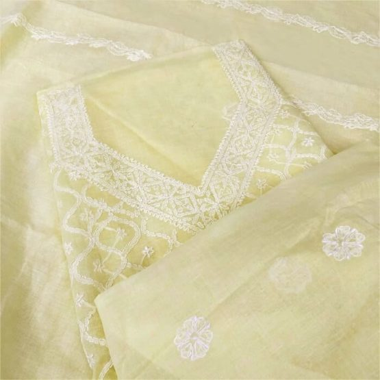 Latest Hand-Embroidered Salwar Material