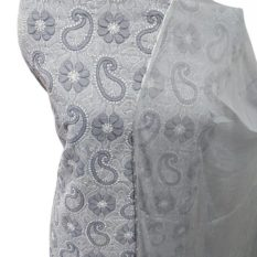 Gray Lucknow Chikankari Suits Online