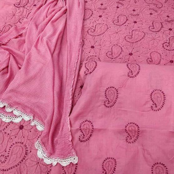 Lucknow Chikankari Work Cotton Suit