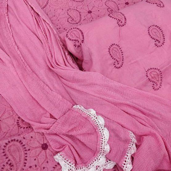 Cotton Lucknow Chikankari Work Suit