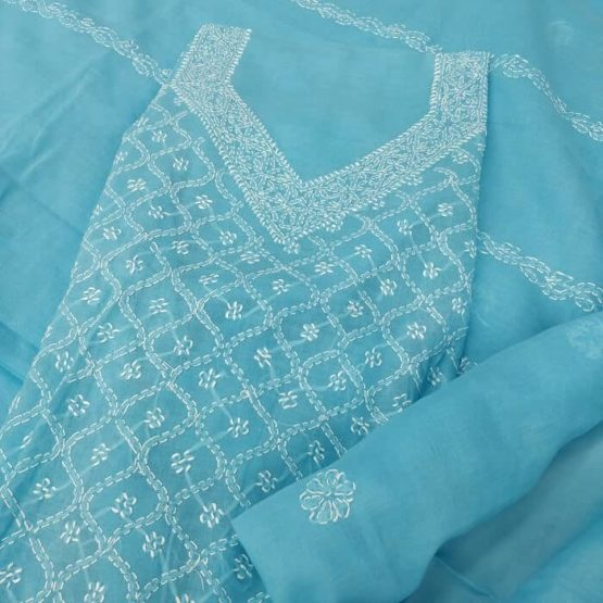 Lucknow Chikankari Suits Online - GI Tagged