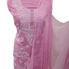 Pink Lucknow Chikankari Dress