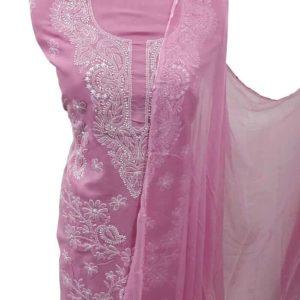 Pink Lucknow Chikankari Dress