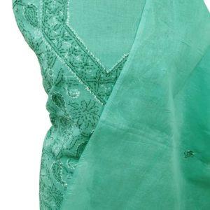 Green Salwar Suit Dupatta Material