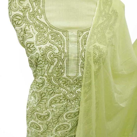 Lime Green Salwar Suit Material Online