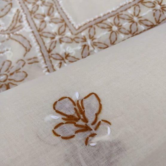 Lucknow Chikankari Suit of cotton fabric online India