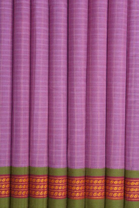 Lavender Pure Cotton Saree Online (4)