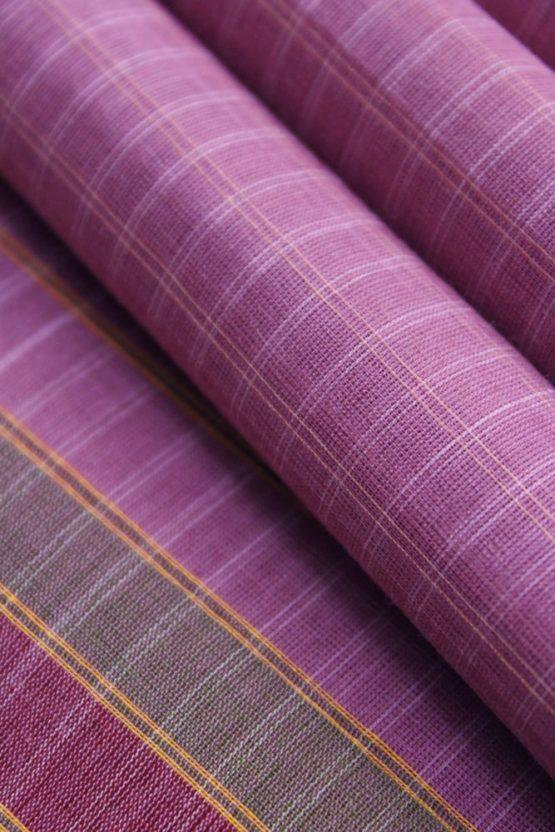 Lavender Pure Cotton Saree Online (5)