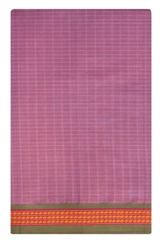 Lavender Pure Cotton Saree Online (6)