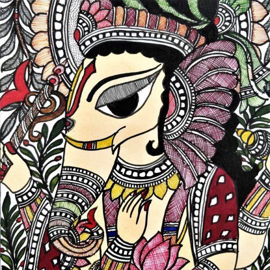 madhubani painting ganesha