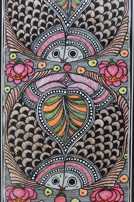 Madhubani Painting Joda Machali 2