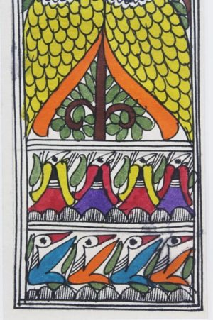 Madhubani Painting Joda Mor with Tattoo 2