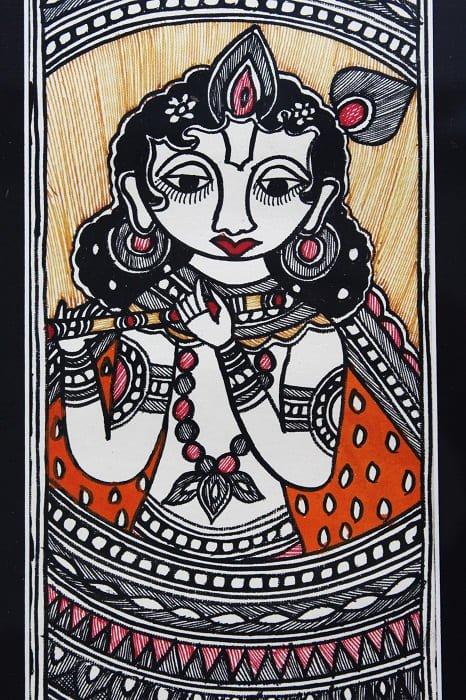 Madhubani Painting Krishna 2