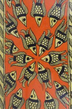 Madhubani Painting Machali Ras A2