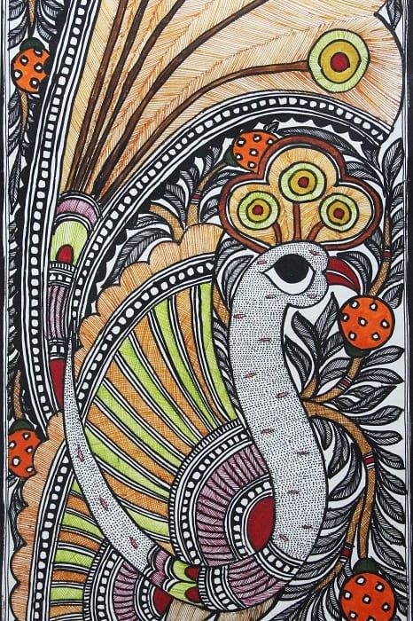 Madhubani Painting Mor 2