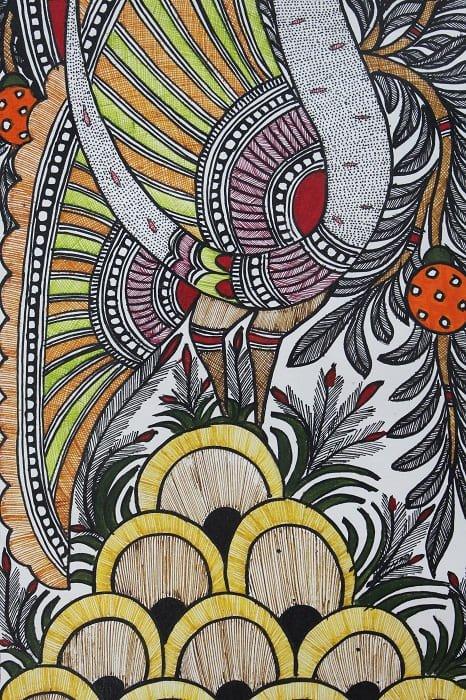 Madhubani Painting Mor 3