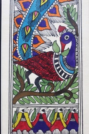 Madhubani Painting Mor with Tattoo A2