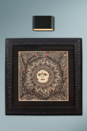 Madhubani-Painting-Sun-with-Tree-of-Life B1