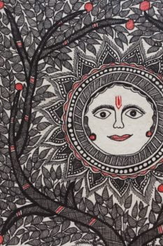 Madhubani-Painting-Sun-with-Tree-of-Life B2