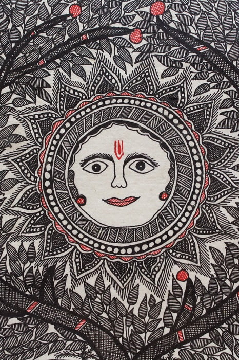 Madhubani-Painting-Sun-with-Tree-of-Life B3