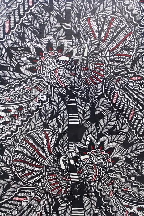Madhubani Painting Tree of Life with Peacock 2