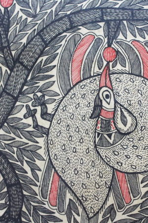 Madhubani-Painting-Tree-of-Life-with-Peacock A2