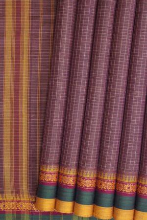 Narayanpet Cotton Thread Border Saree - GI TAGGED (5)
