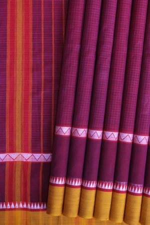 Narayanpet Small Checks Cotton Saree (1)