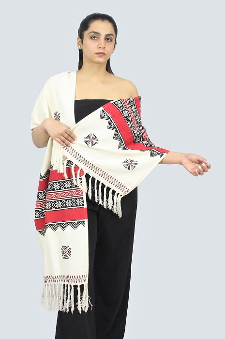 Toda-Embroidery-Wool-Cotton-Stole A1