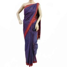 Egypyian Blue Coloured Udupi Cotton Saree
