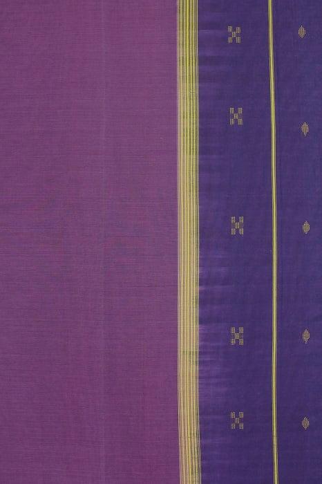 Udupi cotton saree Purple 2