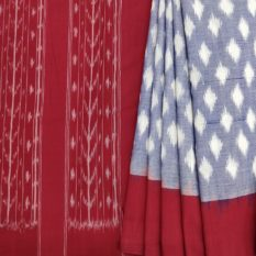 Dot Pattern Purple-Red Cotton Saree Online