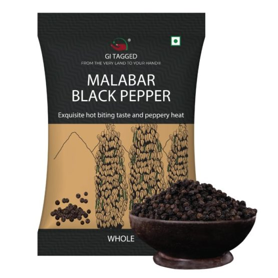 GI Tagged Malabar Black Pepper Whole
