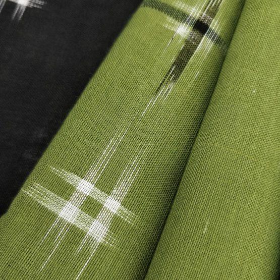 Handwoven Cross Pattern Design on the Saree - Indian Handloom Saree