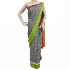 Multi Color Pochampally Double Ikat Cotton Saree